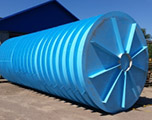 Горизонтальная подземная емкость на 35 кубов производство AlePlast